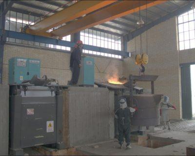 4Ton Steel melting furnace during operation